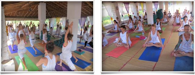Yoga teachers at our traditional ashtanga teacher trainings centers in