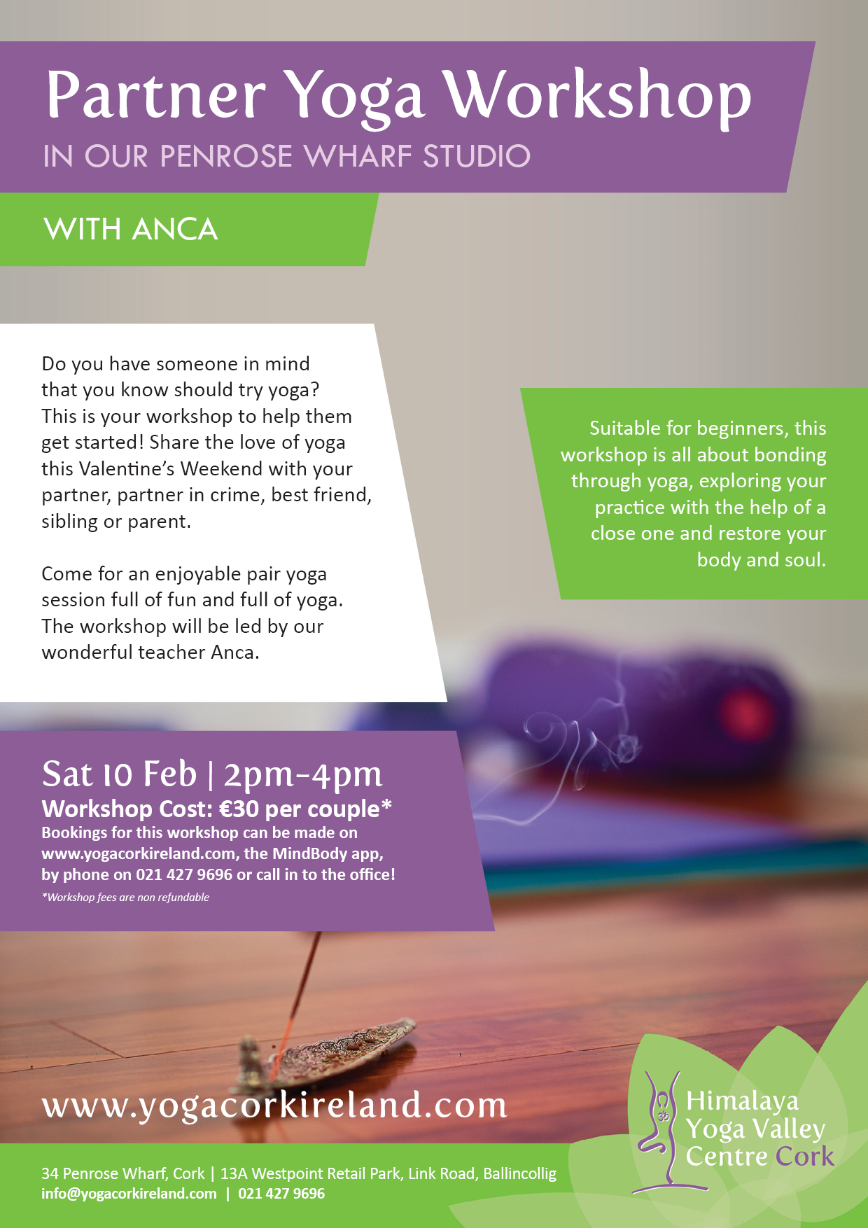 Share Your Love Of Yoga Workshop