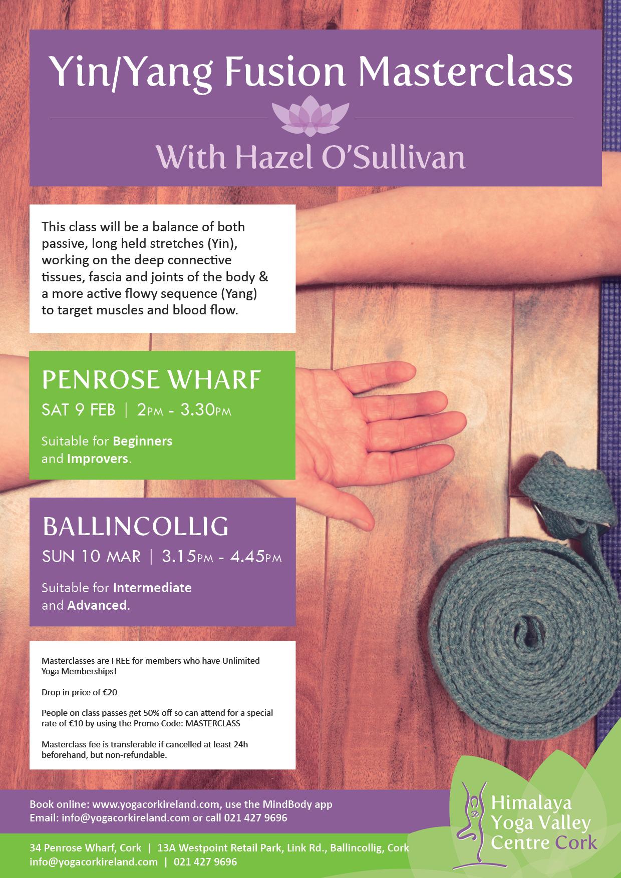 Yin/Yang Fusion Masterclasses With Hazel O'Sullivan   Himalaya Yoga