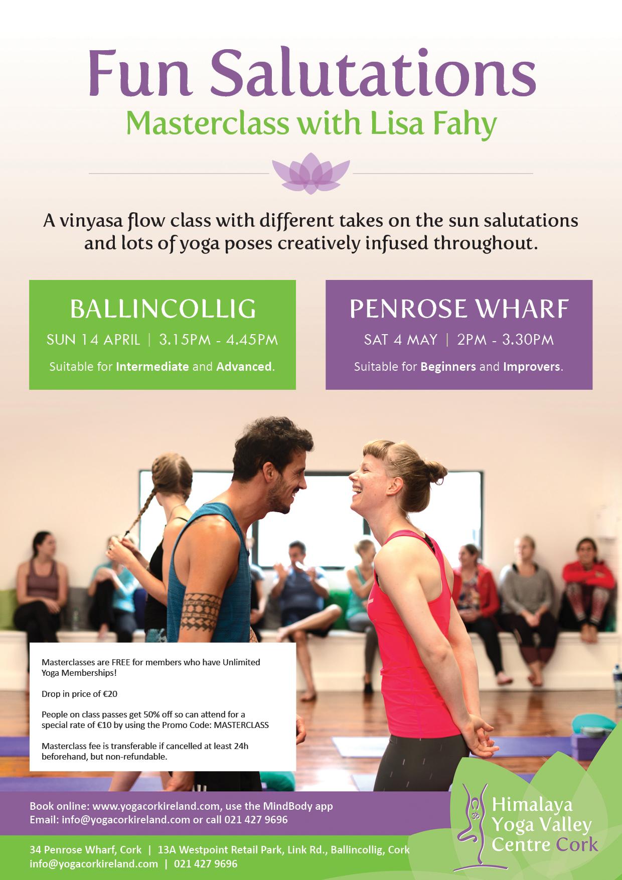 Fun Salutations Masterclass with Lisa Fahy!   Himalaya Yoga